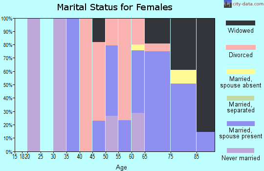 Zip code 22480 marital status for females