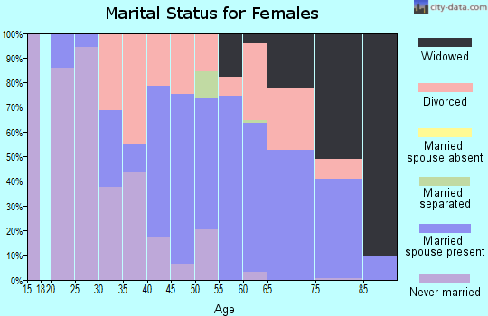 Zip code 22482 marital status for females