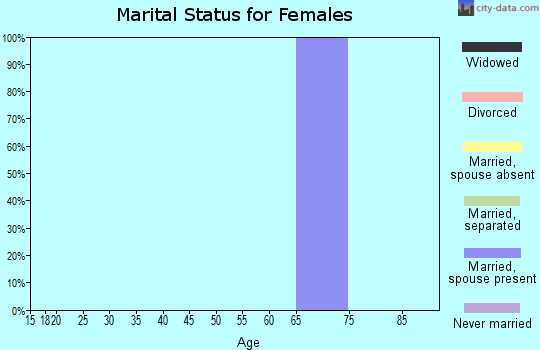 Zip code 22579 marital status for females