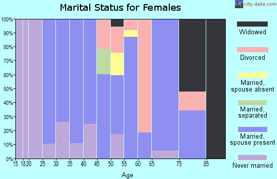 Zip code 22642 marital status for females
