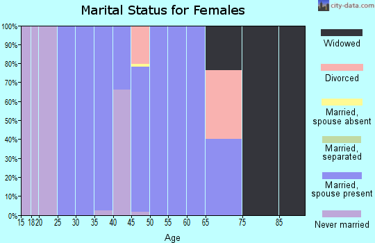 Zip code 22714 marital status for females