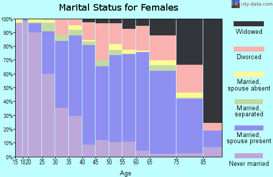 Zip code 22802 marital status for females