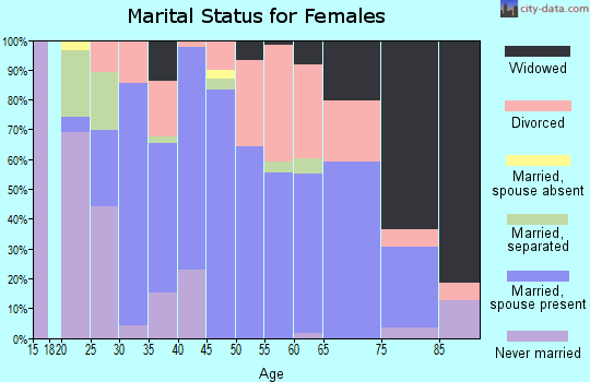 Zip code 22849 marital status for females