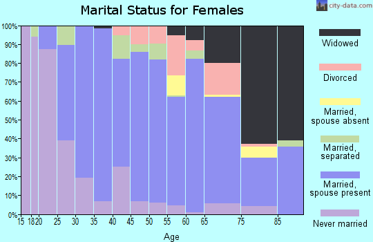 Zip code 22942 marital status for females