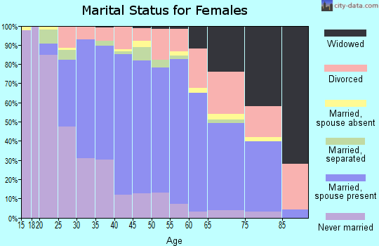 Zip code 23060 marital status for females