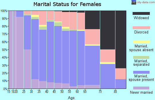 Zip code 23112 marital status for females