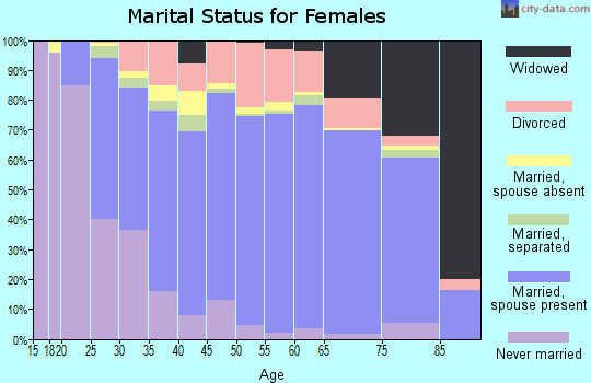 Zip code 23188 marital status for females