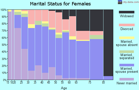 Zip code 23237 marital status for females