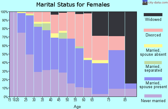 Zip code 23294 marital status for females