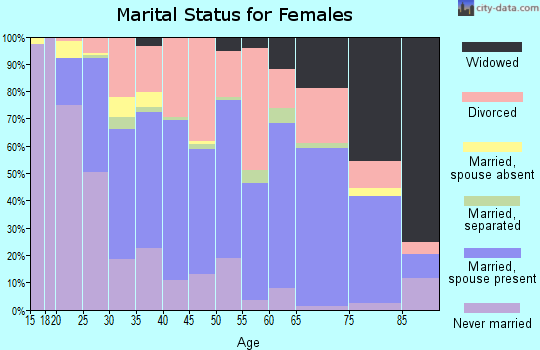 Zip code 23325 marital status for females