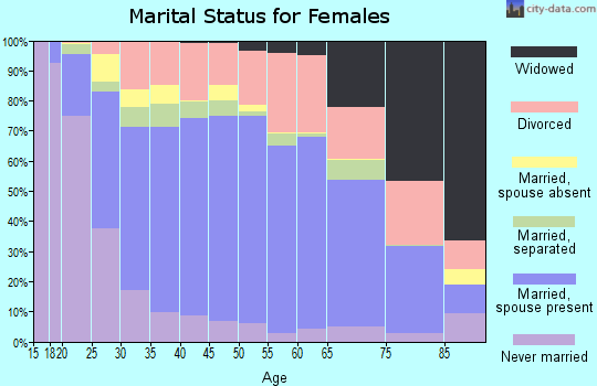 Zip code 23454 marital status for females