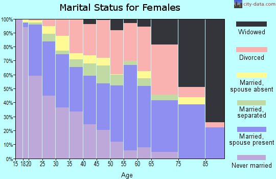 Zip code 23503 marital status for females