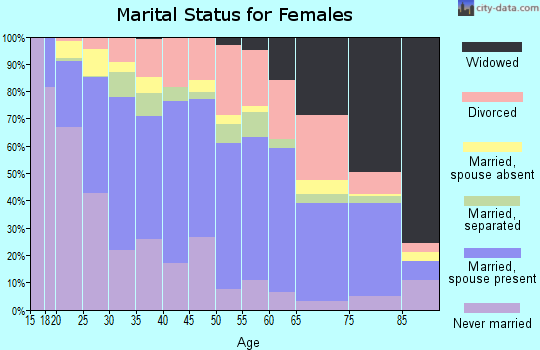 Zip code 23505 marital status for females