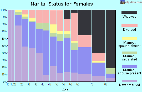 Zip code 23509 marital status for females