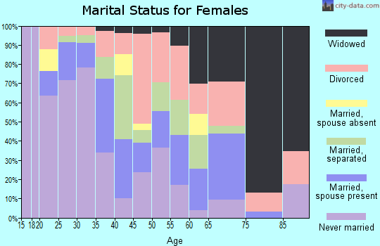 Zip code 23523 marital status for females