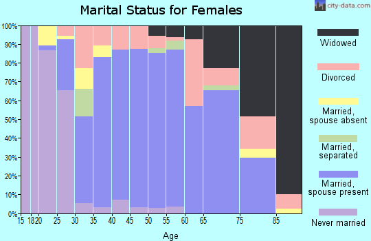 Zip code 23662 marital status for females