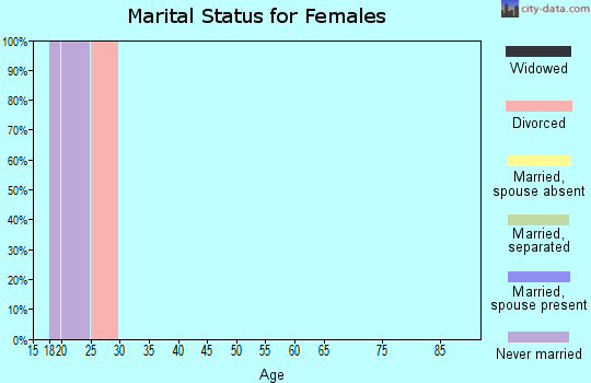 Zip code 23708 marital status for females