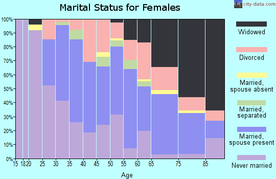 Zip code 23851 marital status for females