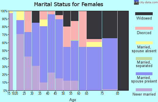 Zip code 23920 marital status for females