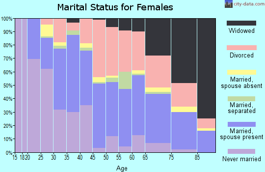 Zip code 24012 marital status for females