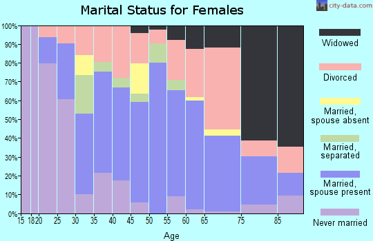 Zip code 24014 marital status for females
