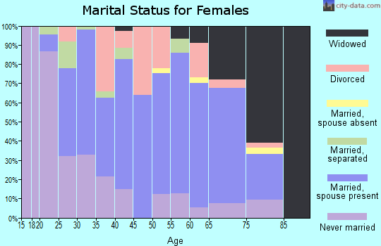 Zip code 24219 marital status for females