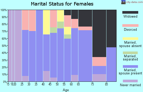 Zip code 24315 marital status for females