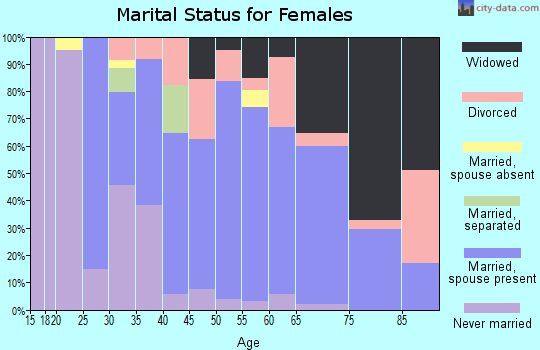 Zip code 24361 marital status for females
