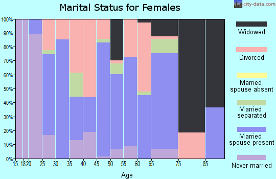Zip code 24430 marital status for females