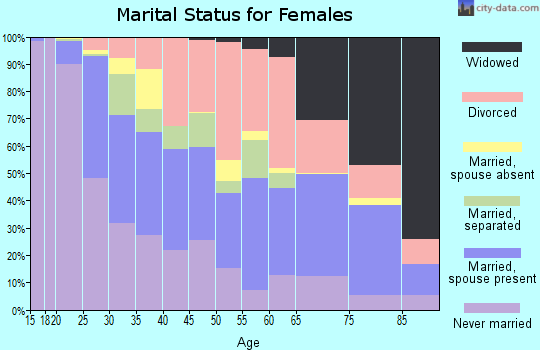 Zip code 24501 marital status for females