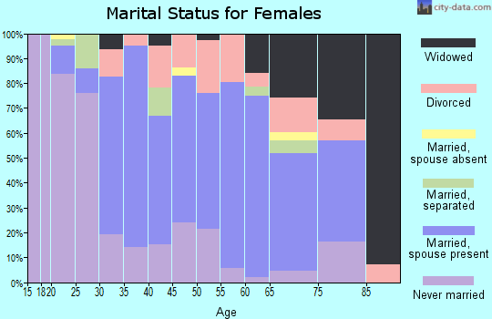 Zip code 24521 marital status for females