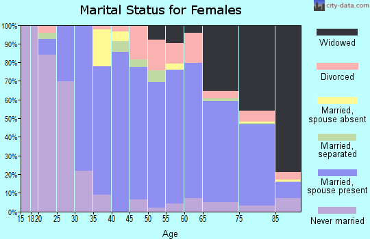 Zip code 24557 marital status for females