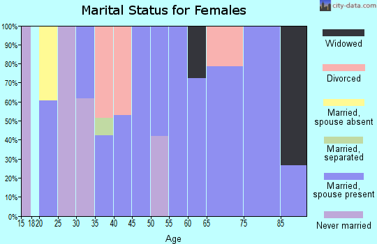 Zip code 24566 marital status for females