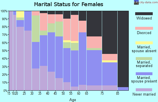 Zip code 24592 marital status for females