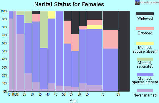 Zip code 24630 marital status for females