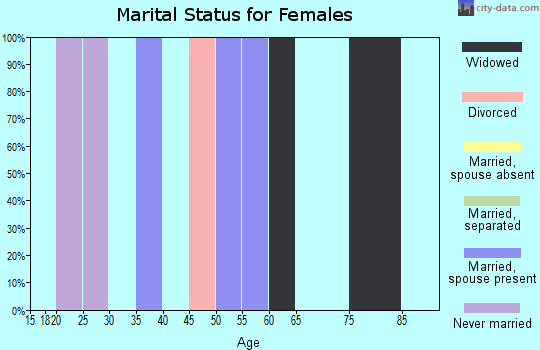 Zip code 24731 marital status for females