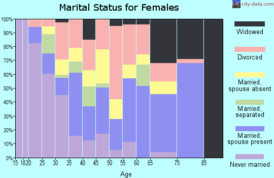 Zip code 24910 marital status for females