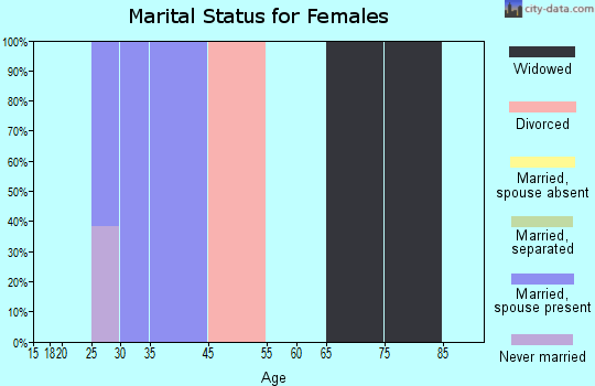 Zip code 24936 marital status for females