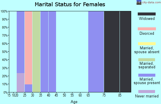 Zip code 25110 marital status for females