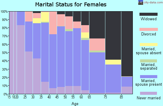 Zip code 25312 marital status for females