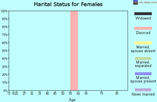 Zip code 25853 marital status for females