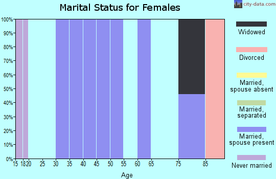 Zip code 25902 marital status for females