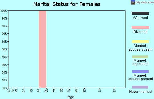 Zip code 25908 marital status for females