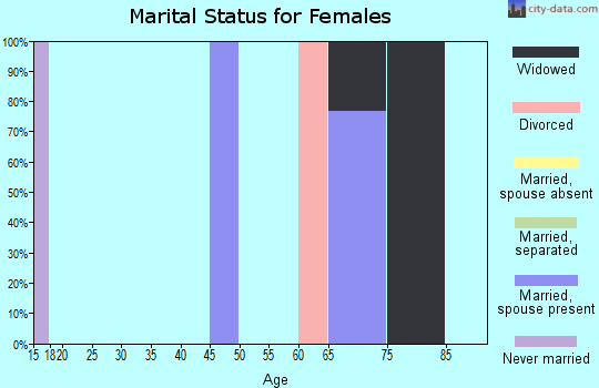 Zip code 25920 marital status for females
