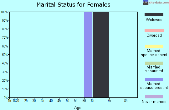 Zip code 25977 marital status for females