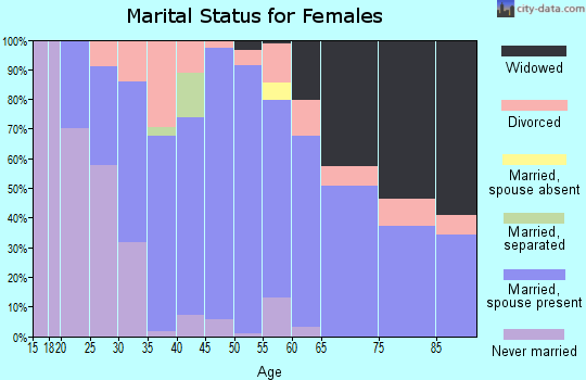Zip code 26047 marital status for females