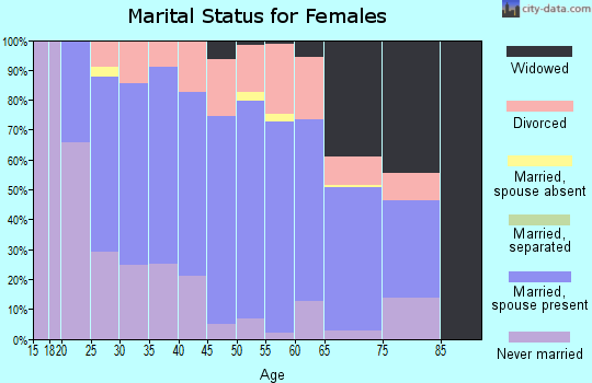 Zip code 26354 marital status for females
