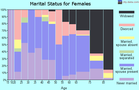 Zip code 26362 marital status for females