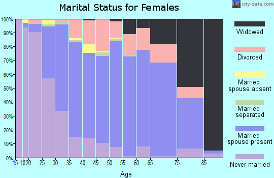 Zip code 26508 marital status for females