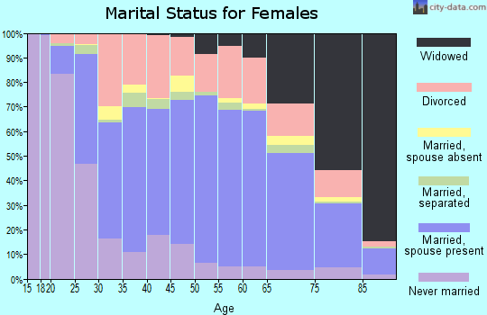 Zip code 26554 marital status for females